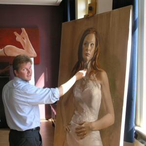 Bruid, acryl op doek, 140 bij 100 cm, 2005